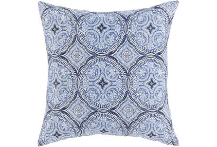 Outdoor Accent Pillow-Blue Medallions 16X16 - Main
