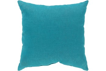 Outdoor Accent Pillow-Teal Solid 18X18