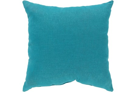 Outdoor Accent Pillow-Teal Solid 18X18 - Main