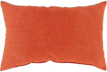 Outdoor Accent Pillow-Burnt Orange Solid 20X13