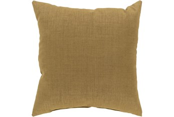 Outdoor Accent Pillow-Tan Solid 18X18