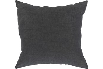 Outdoor Accent Pillow-Charcoal Solid 18X18