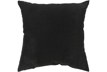 Outdoor Accent Pillow-Black Solid 22X22