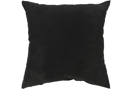 Outdoor Accent Pillow-Black Solid 22X22 - Main