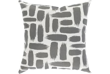 Outdoor Accent Pillow-Medium Grey & White Daub 16X16 - Main