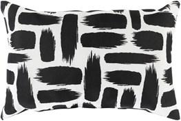 Outdoor Accent Pillow-Black & White Daub 16X16
