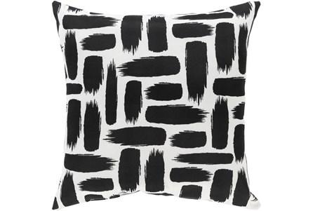 Outdoor Accent Pillow-Black & White Daub 16X16 - Main