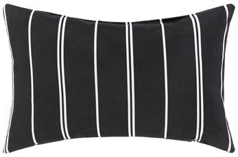 Outdoor Accent Pillow-Black Vertical Stripe 20X13