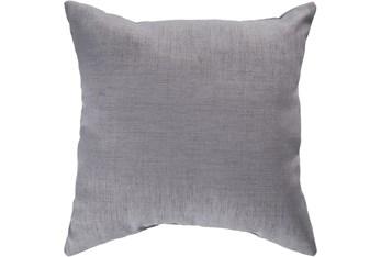 Outdoor Accent Pillow-Medium Grey Solid 18X18