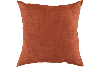 Outdoor Accent Pillow-Terracotta Solid 18X18