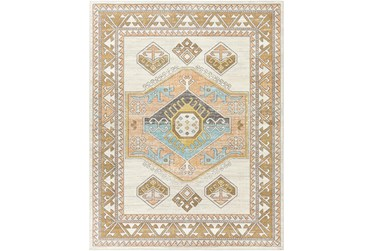 7'10X10' Outdoor Rug-Ivory Background Global Multi