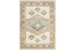 """8'10""""X12' Outdoor Rug-Ivory Background Global Multi"""