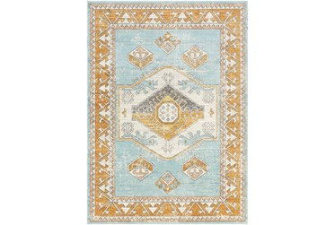 """8'10""""X12' Outdoor Rug-Blue Background Global Multi"""