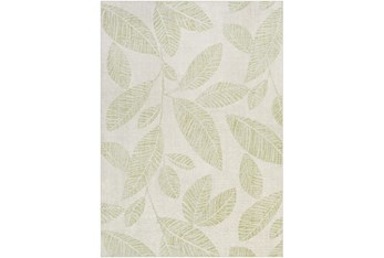 """5'3""""X7'3"""" Outdoor Rug-Grass Green Palm Leaves"""