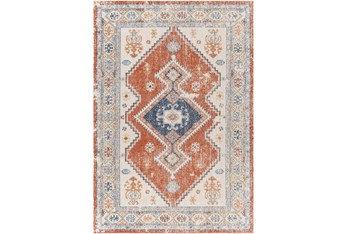 """7'10""""X10' Outdoor Rug-Bold Orange With Blue Global"""