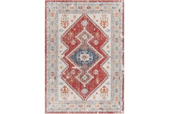 """7'10""""X10' Outdoor Rug-Bold Red With Blue Global"""