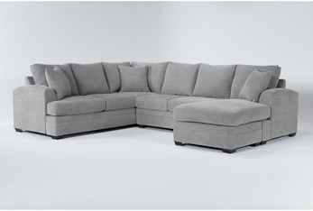 Cortez Ash 2 Piece Sectional With Right Arm Facing Chaise