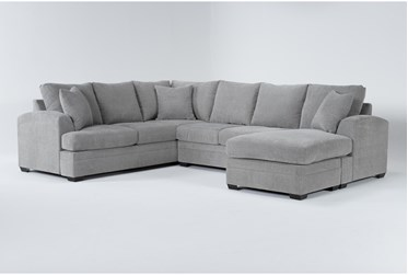 """Cortez Ash 126"""" 2 Piece Sectional With Right Arm Facing Chaise"""