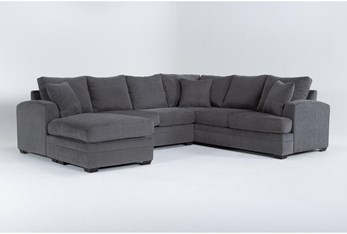 Cortez Graphite 2 Piece Sectional With Left Arm Facing Chaise