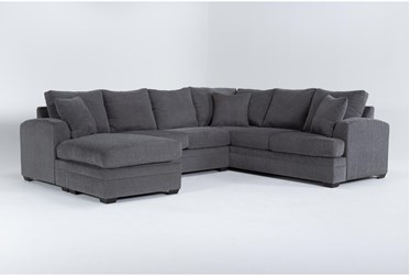 """Cortez Graphite 126"""" 2 Piece Sectional With Left Arm Facing Chaise"""