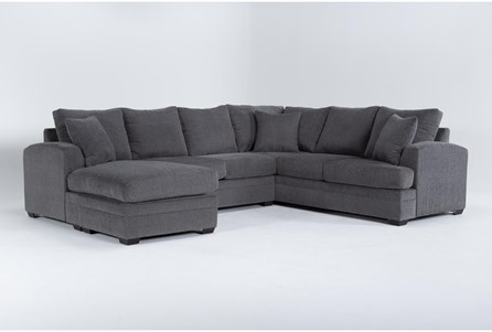 Cortez Graphite 2 Piece Sectional With Left Arm Facing Chaise - Main