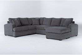 """Cortez Graphite 126"""" 2 Piece Sectional With Right Arm Facing Chaise"""