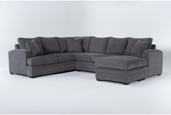 Cortez Graphite 2 Piece Sectional With Right Arm Facing Chaise