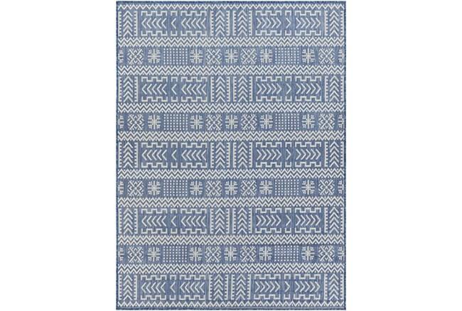 "7'10""X10' Outdoor Rug-Blue & Ivory Global Aztec - 360"