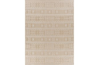 """7'10""""X10' Outdoor Rug-Taupe & Ivory Global Aztec"""