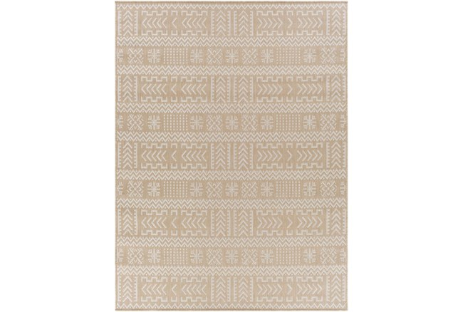 """7'10""""X10' Outdoor Rug-Taupe & Ivory Global Aztec - 360"""