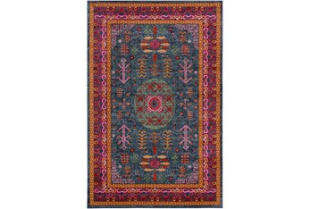 """5'3""""X7'3"""" Rug-Blue & Red Traditional"""