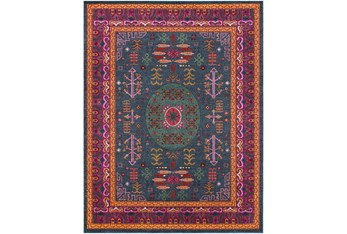 """7'8""""X10'2"""" Rug-Blue & Red Traditional"""