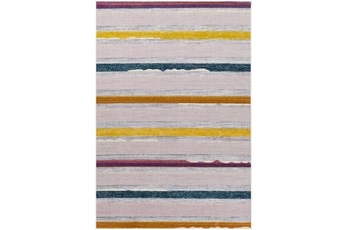 """5'3""""X7' Outdoor Rug-Multicolored Antiqued Striped"""