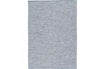 "6'7""X9' Outdoor Rug-Blue & Grey Modern Mottled"