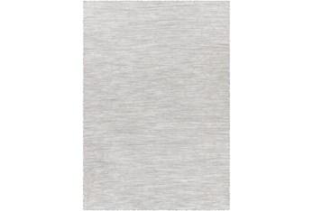 "2'6""X4' Outdoor Rug-Medium Gray, Cream Mottled Design"