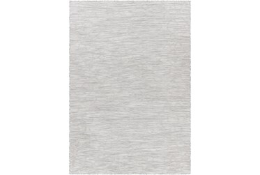 "7'8""X10' Outdoor Rug-Medium Gray, Cream Mottled Design"