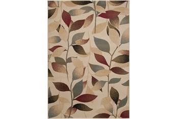 """5'3""""X7'6"""" Rug-Red & Brown Leaves"""