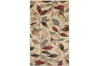 """6'6""""X9'5"""" Rug-Red & Brown Leaves"""