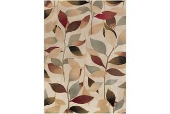 """7'8""""X10'8"""" Rug-Red & Brown Leaves"""