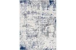 "5'3""X7'1"" Rug-Grey/White/Blue Modern"