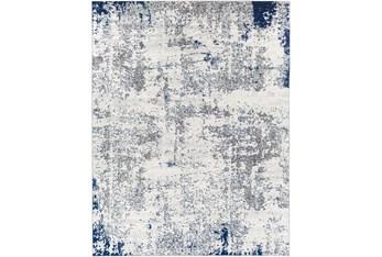 "7'8""X10'3"" Rug-Grey/White/Blue Modern"