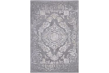 2'3' Rug-Grey Floral Sheen