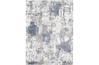 "5'3""X7'1"" Rug-Blue/Grey Abstract"
