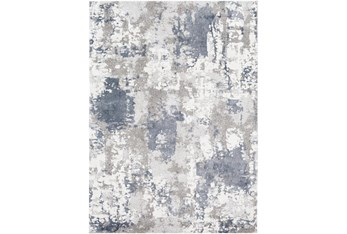"7'8""X10'3"" Rug-Blue/Grey Abstract"
