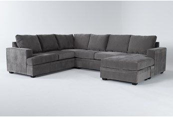 Bonaterra Charcoal 2 Piece Sectional With Right Arm Facing Chaise