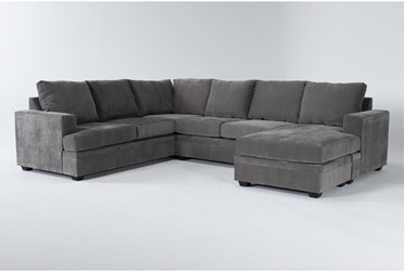 """Bonaterra Charcoal 127"""" 2 Piece Sectional With Right Arm Facing Chaise"""