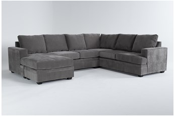 Bonaterra Charcoal 2 Piece Sectional With Left Arm Facing Chaise