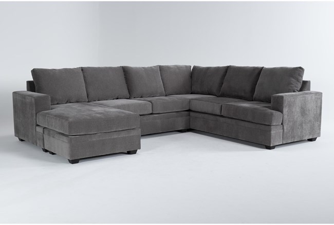 """Bonaterra Charcoal 127"""" 2 Piece Sectional With Left Arm Facing Chaise  - 360"""