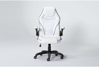 Theory White Gaming Chair With Black Trim