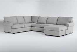 """Hampstead Dove 140"""" 2 Piece Sectional With Right Arm Facing Chaise"""